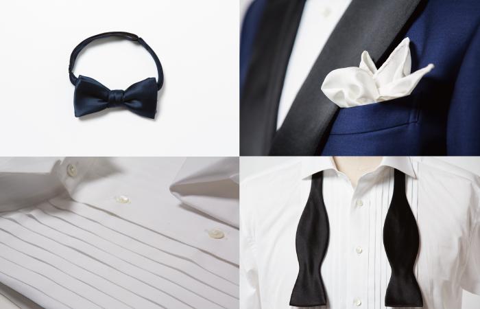 タキシード、結婚式小物着こなしのルール