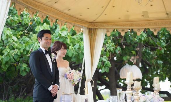ハワイで結婚式を挙げた新郎のオーダーメイドタキシード